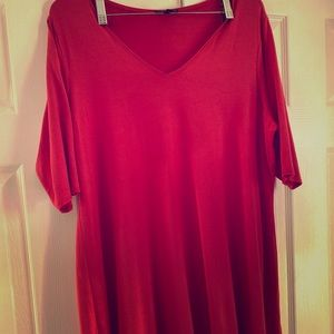 Eileen Fisher 2X Tomato Red Tunic